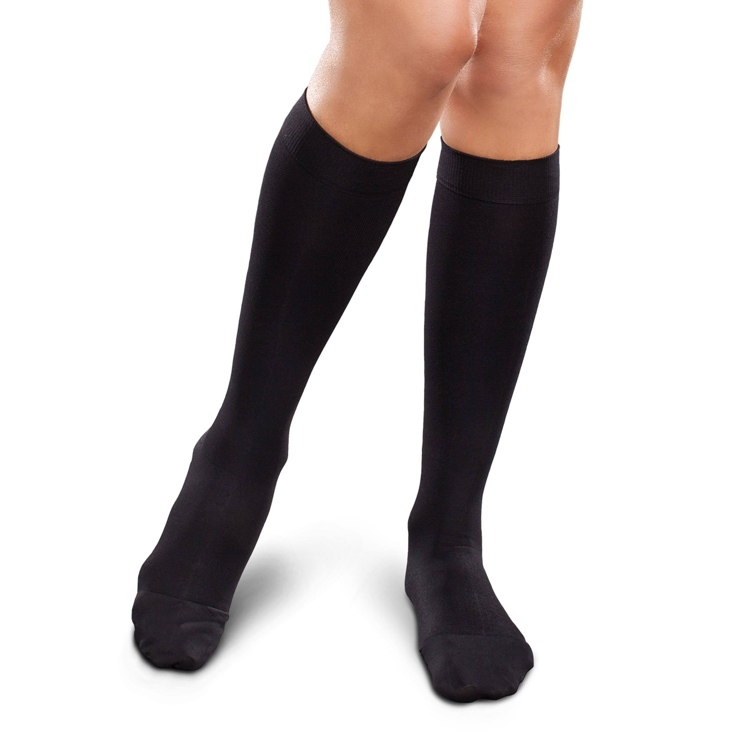 Therafirm Ease Opaque Women's 20-30mmHg Knee High Large Short / Black