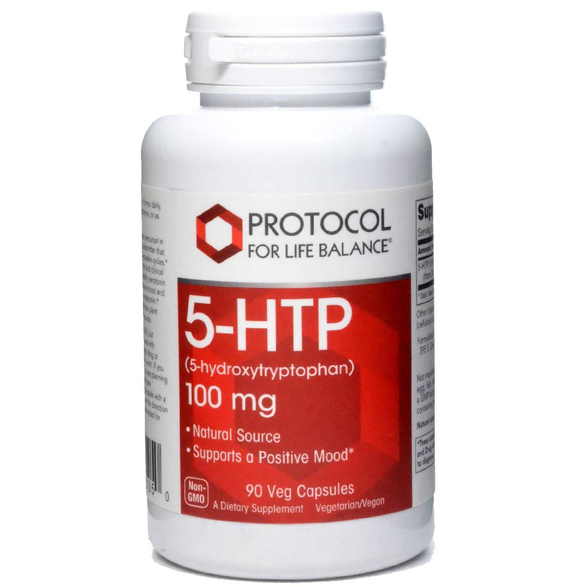 Protocol for Life Balance 5-HTP Serotonin Supplements - 100mg, x90