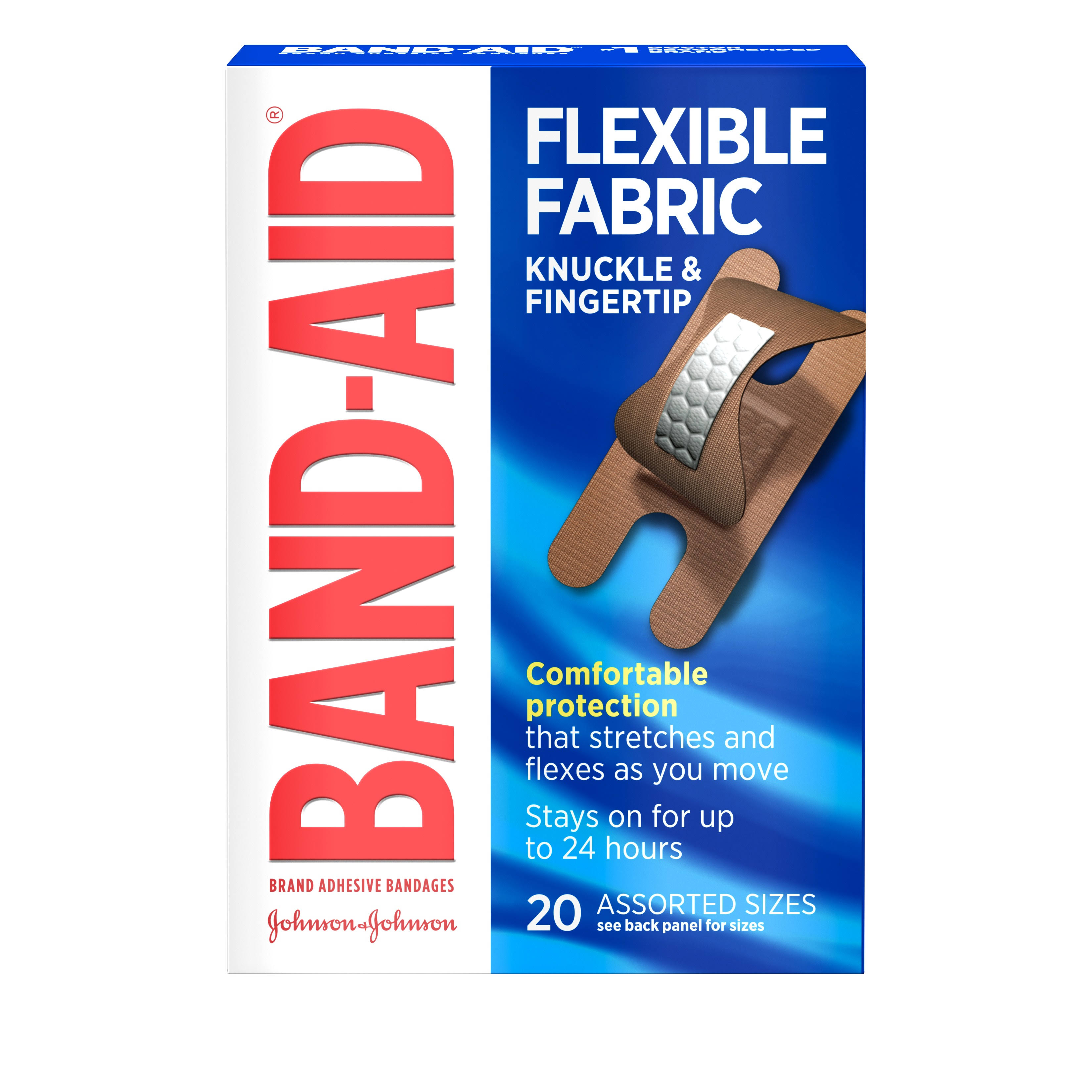 Band - Aid Flexible Fabric Adhesive Bandages - 20pcs