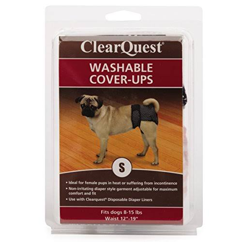 Clear Quest Washable Dog Cover Ups Wetness and Stain Protection - Small