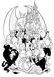 Disney Halloween Coloring Pages by Superhero Villain Coloring Pages