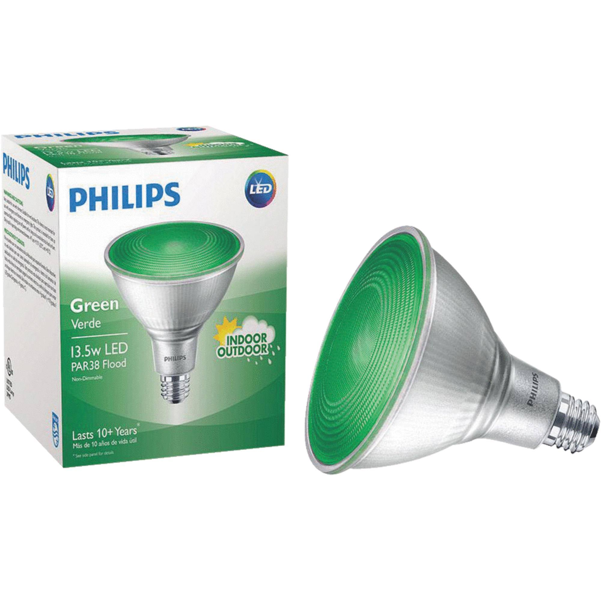 Philips Par38 Colored LED Floodlight Light Bulb - Green, 90W