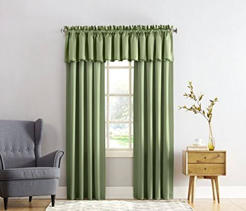 Madison Room Darkening Rod Pocket Curtain Panel Sage