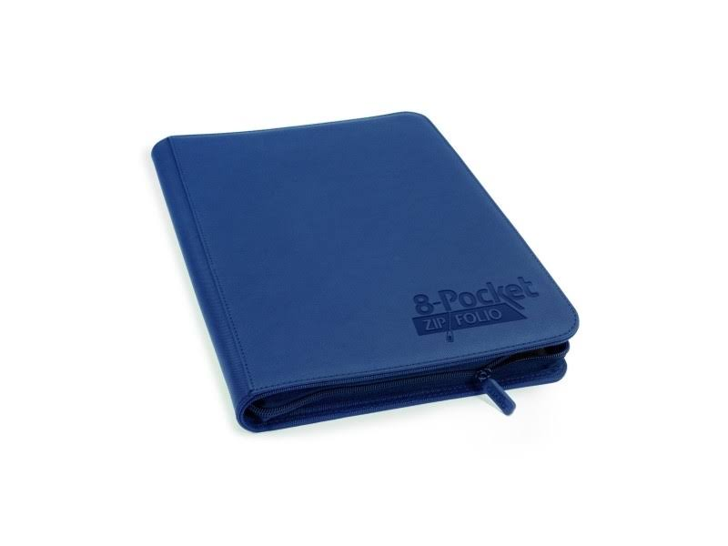 Ultimate Guard 8 Pocket Xenoskin Zipfolio - Dark Blue