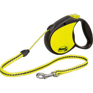 Flexi Neon Tape Retractable Dog Leash - 16'