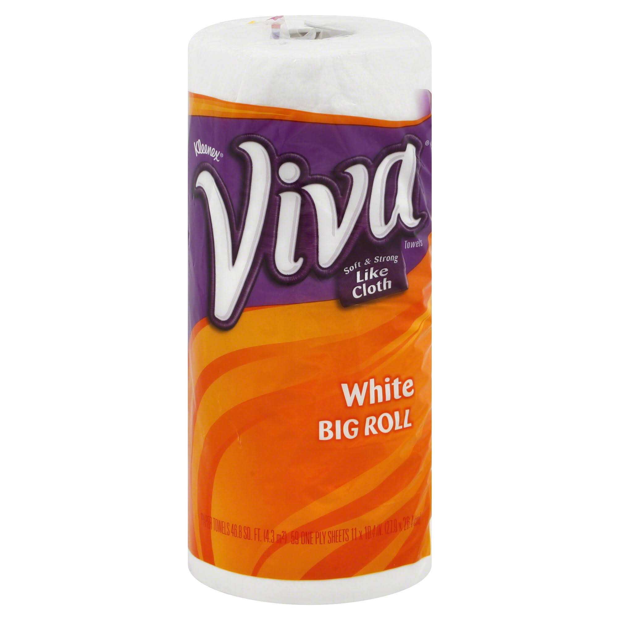 Viva Big Roll Paper Towels - 1ct, White, 1 Ply