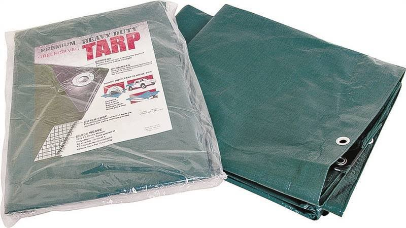 Mintcraft T0510GS140 Premium Heavy Duty Tarp - 8' x 10', Green and Silver