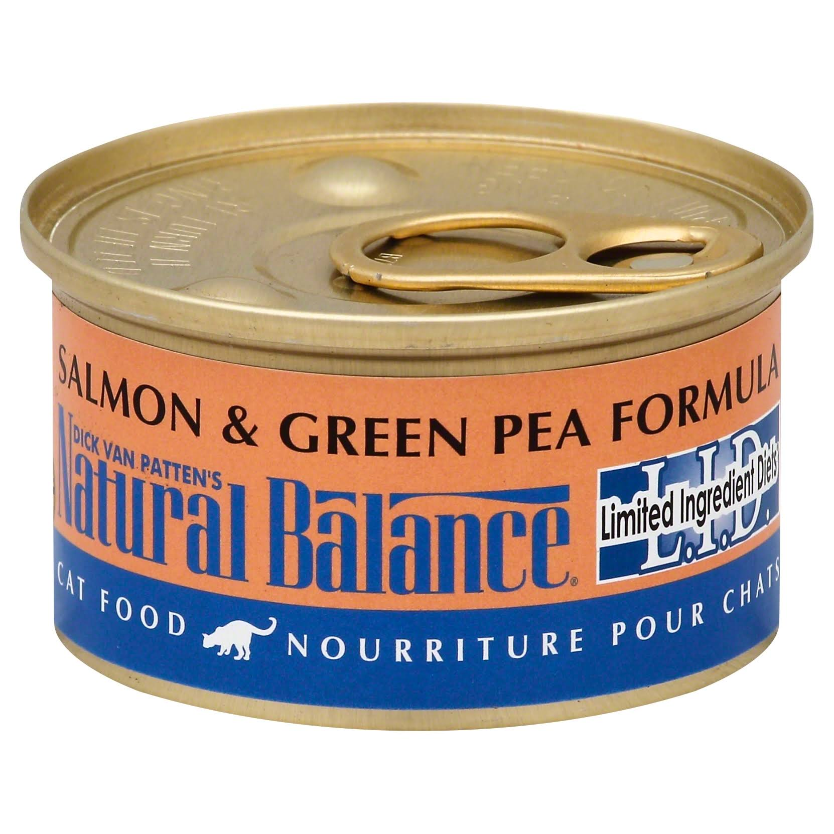 Natural Balance L.I.D. Limited Ingredient Diets Cat Food - Salmon and Green Pea Formula, 3oz