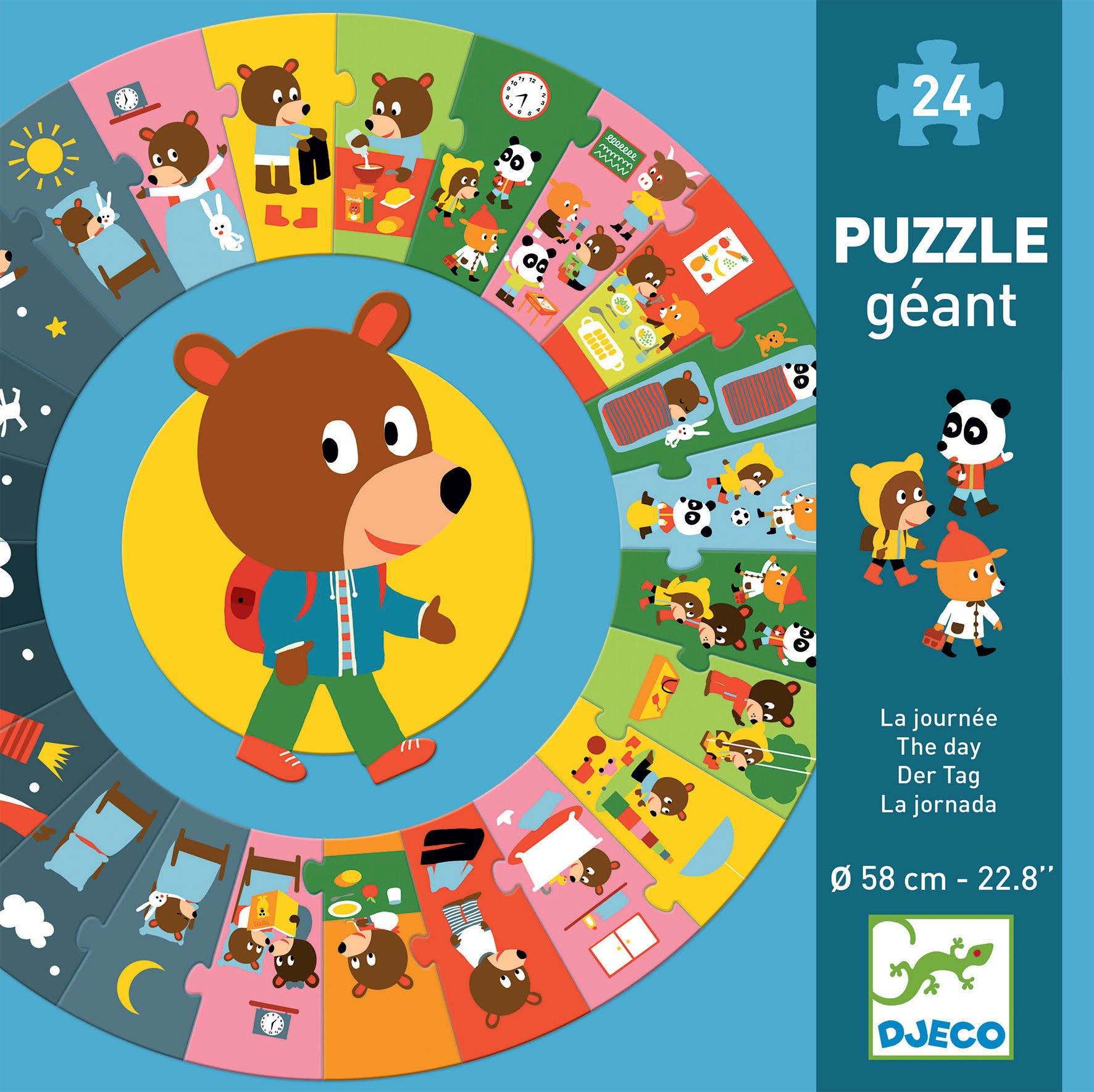 Djeco the Day Giant Circle Puzzle