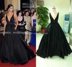 camila alves 2011 oscar v neck red carpet dress ball gown evening