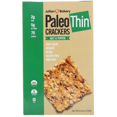 Julian Bakery Paleo Thin Crackers Low Carb Gluten Free
