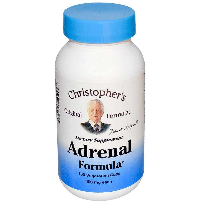 DR. Christopher's Adrenal Formula Dietary Supplement - 100 Count