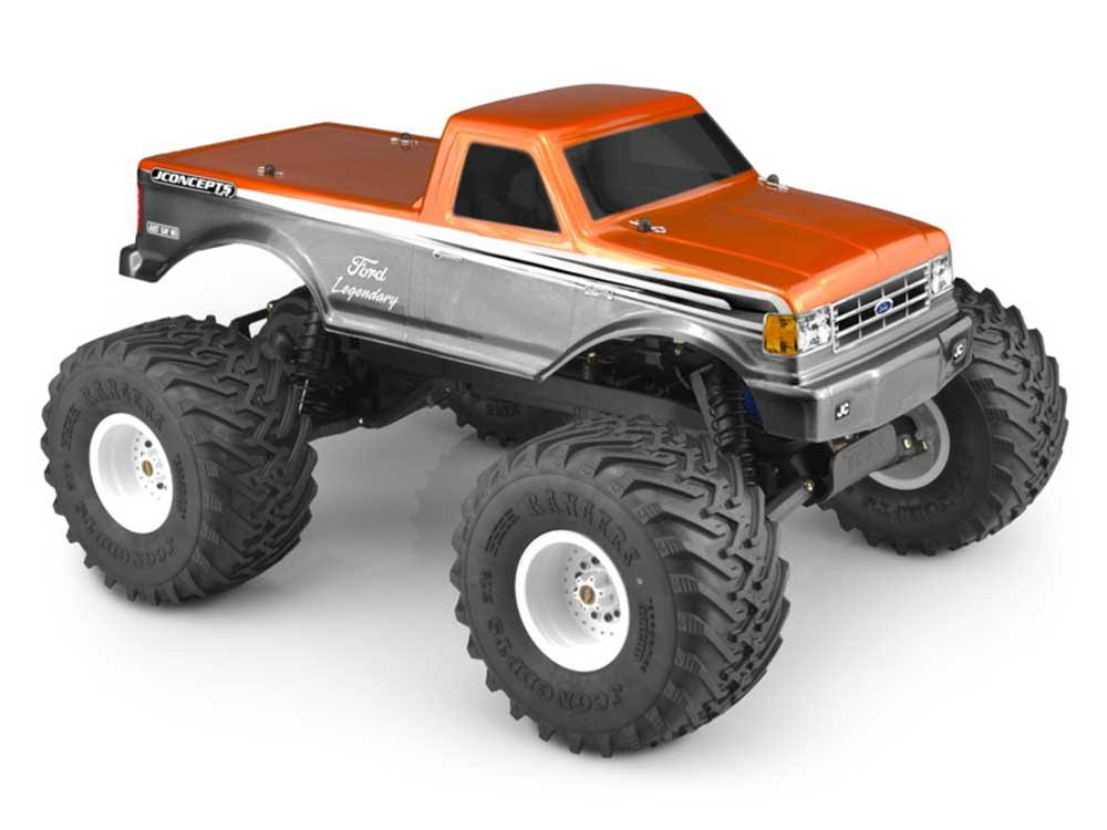 JConcepts 0377 - 1989 Ford F-250 Clear Body Racerback: Stampede