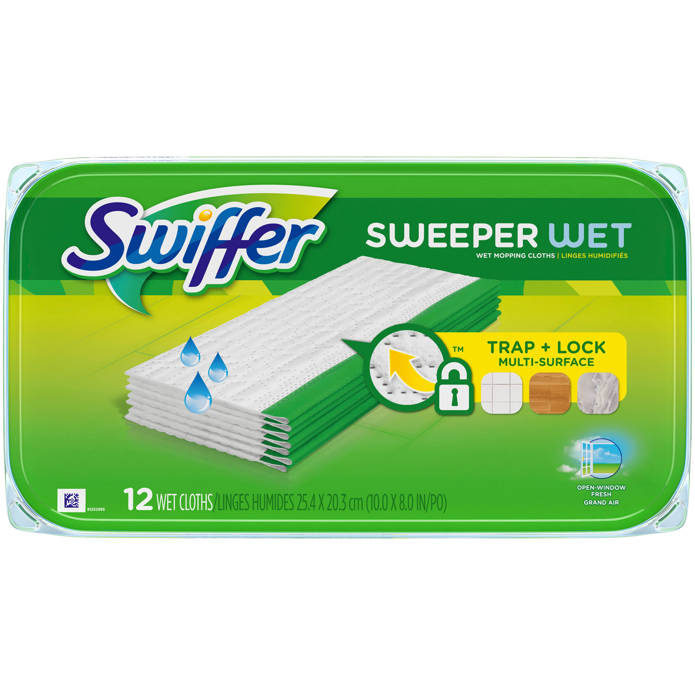 Swiffer Sweeper Wet Mopping Refill Cloths - 12 Pack