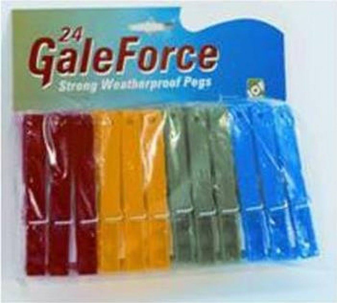 GaleForce Jumbo Spring Pegs x 24 8224