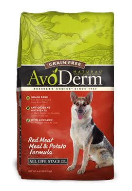 AvoDerm Natural Dog Food - Grain Free, Red Meat, 24lbs