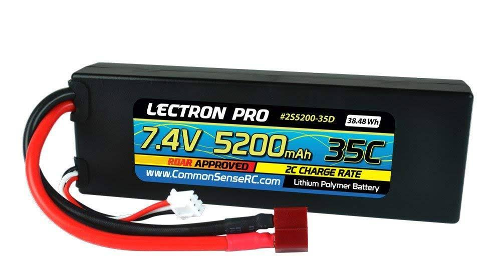 Lectron Pro Hard Case Lipo Battery Pack - 7.4V, 5200mah
