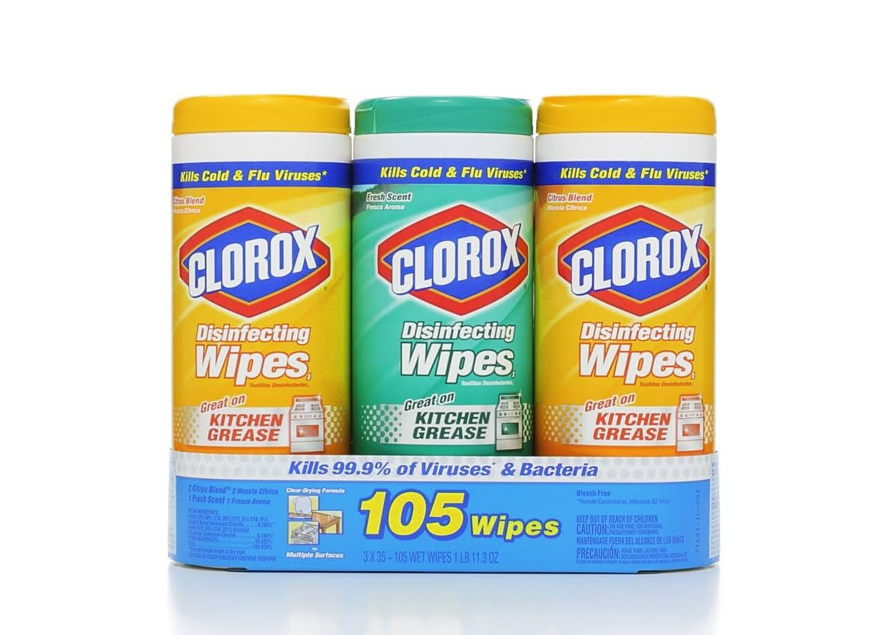 Clorox Disinfecting Wipes Value Pack - Fresh Scent and Citrus Blend, 105ct