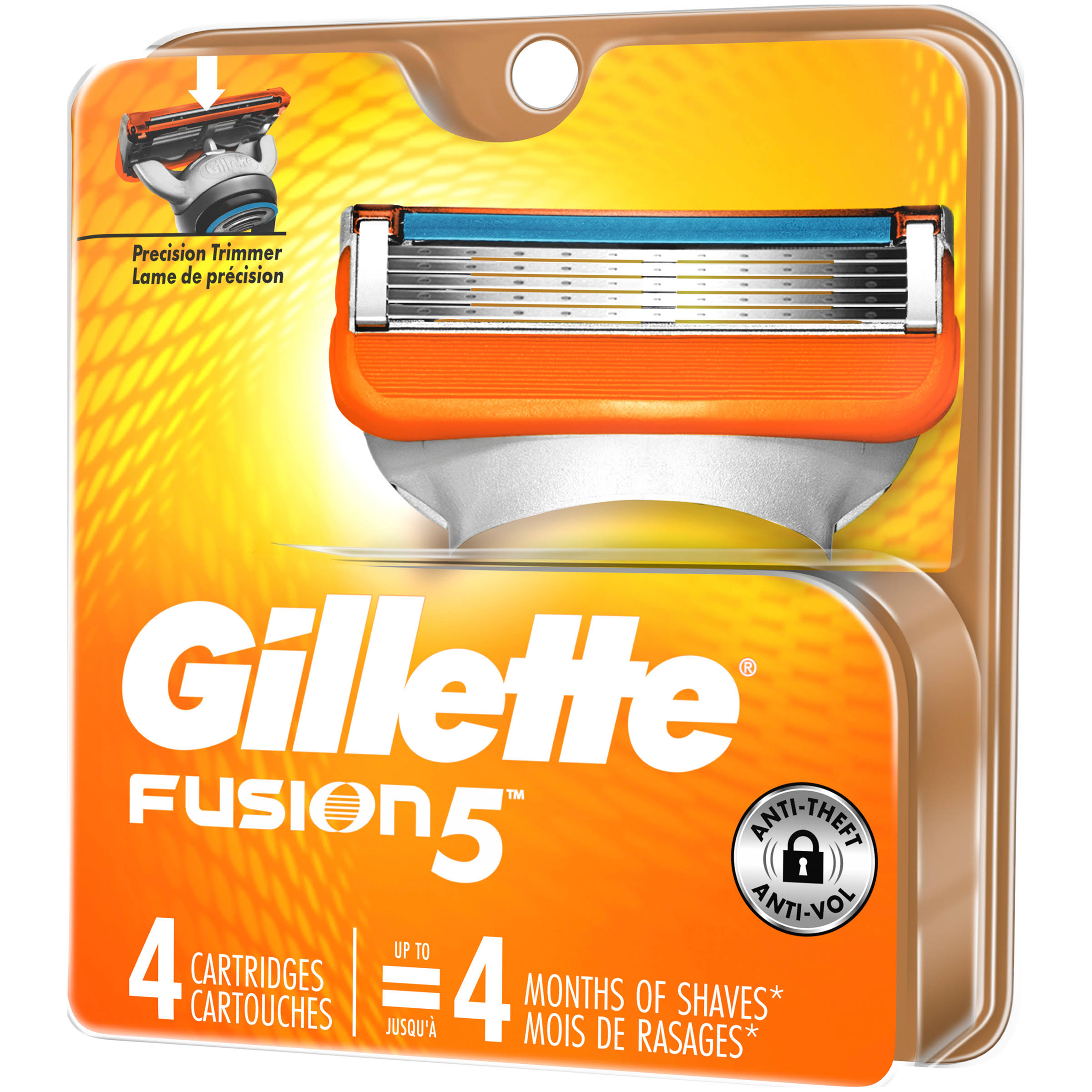 Gillette Fusion Power Razor Blade Refills - 4 Cartridges