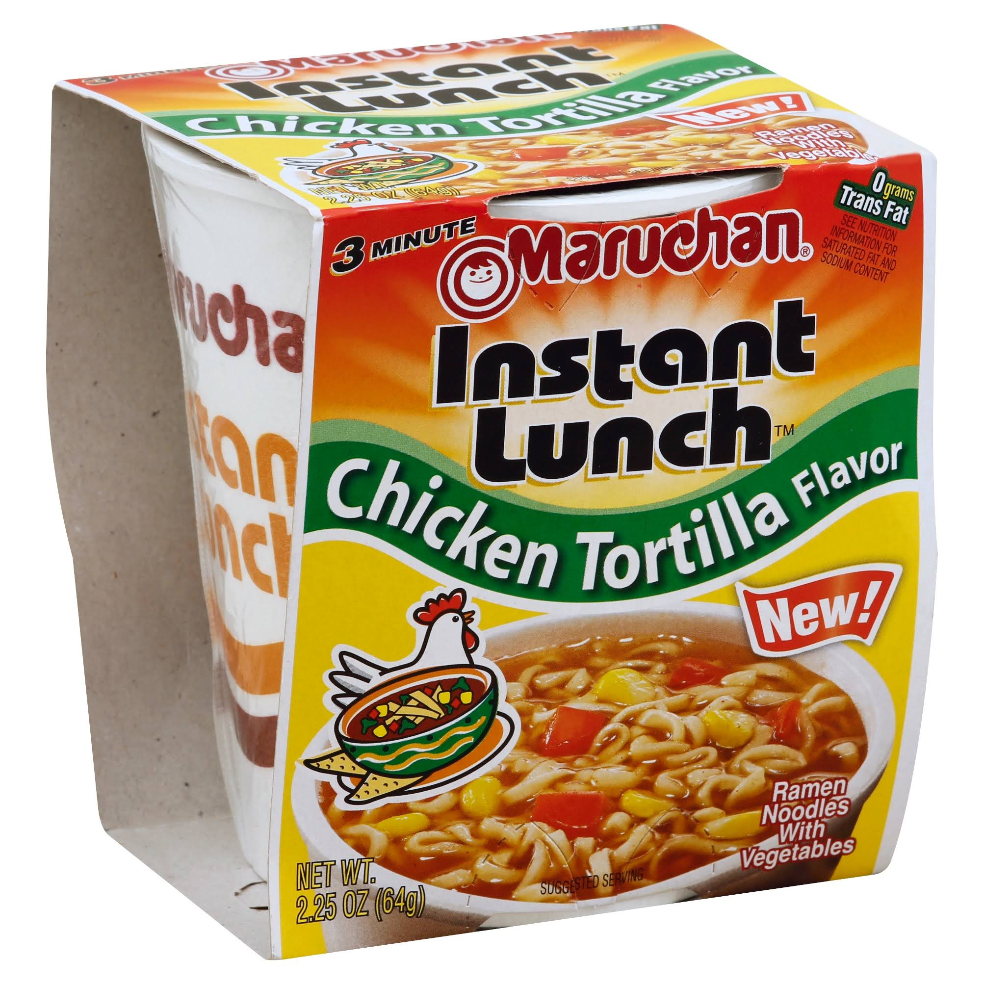 Maruchan Instant Lunch Ramen Noodle Soup - 2.25oz, Hot & Spicy Chicken Tortilla