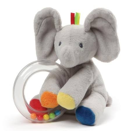 Gund Baby Flappy The Elephant Soft Toy Rattle
