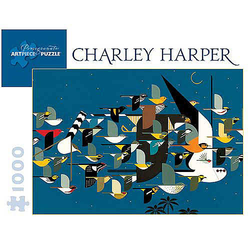 Charley Harper Mystery Of The Missing Migrants Jigsaw Puzzle - 1000 Pieces