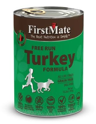 FirstMate FI12213 Turkey Formula Limited Ingredient Grain-Free Canned Dog Food