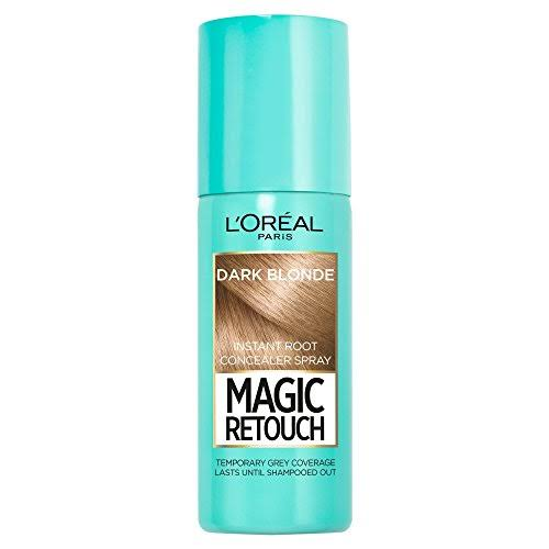 L'Oreal Magic Retouch Temporary Instant Grey Root Concealer Spray - Dark Blonde, 75ml