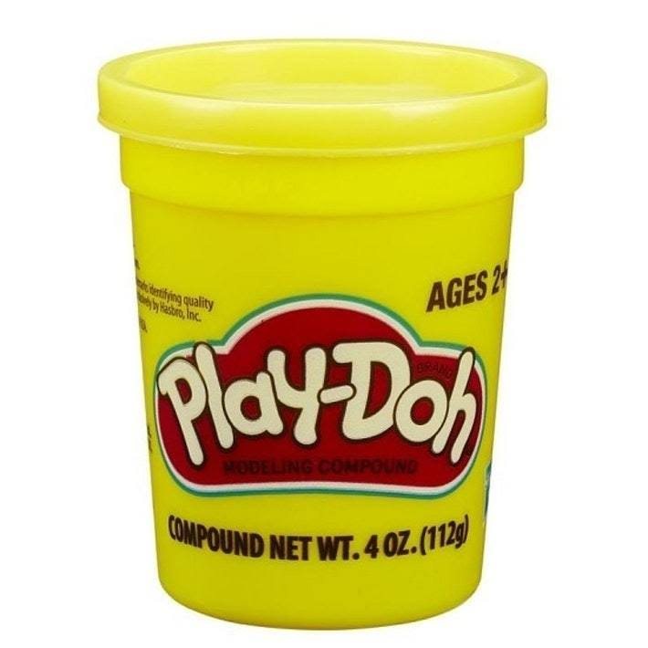 Play doh Single Can - Yellow, 4oz