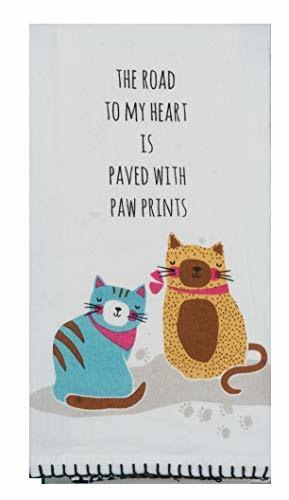 Kay Dee Designs Paw Prints Cat Flour Sack Towel