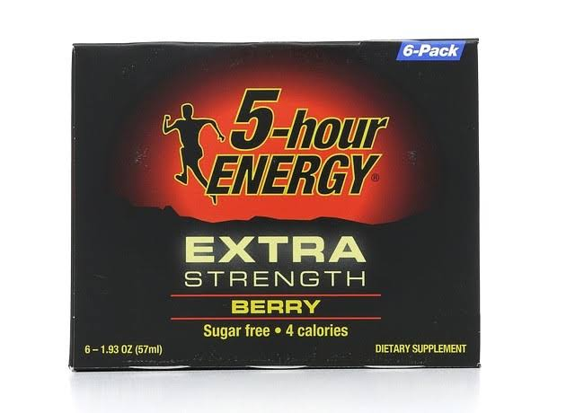 5-hour Energy Extra Strength Dietary Supplement - Berry, 1.93oz, 6ct