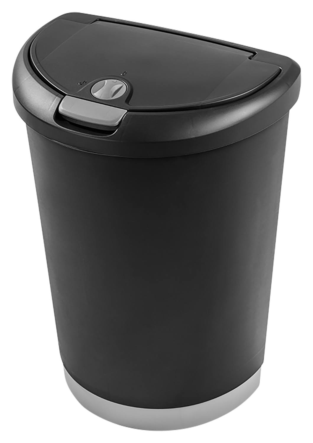 Sterilite Locking TouchTop Wastebasket - Black, 12.3gal