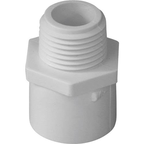 Genova Male Adapter - White, 0.5""