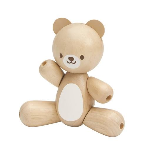 Plan Toys PLTO-5241 Wooden Bear Toy