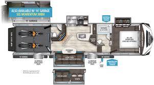 5th Wheel Toy Hauler Floor Plans by 350m Grand Design