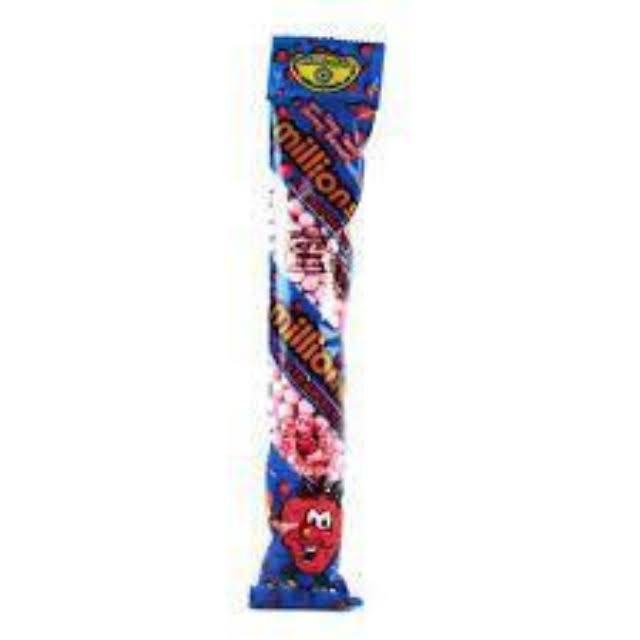 Millions Tube Candy - Strawberry, 60g