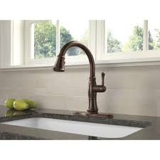 Delta Victorian Bronze Bathroom Faucet by Delta Faucet 9197t Rb Dst Cassidy Venetian Bronze Pullout Spray