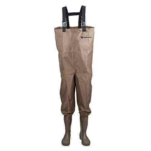 Hodgman Mackenzie Cleated Bootfoot Chest Fishing Waders - Brown, Size 9