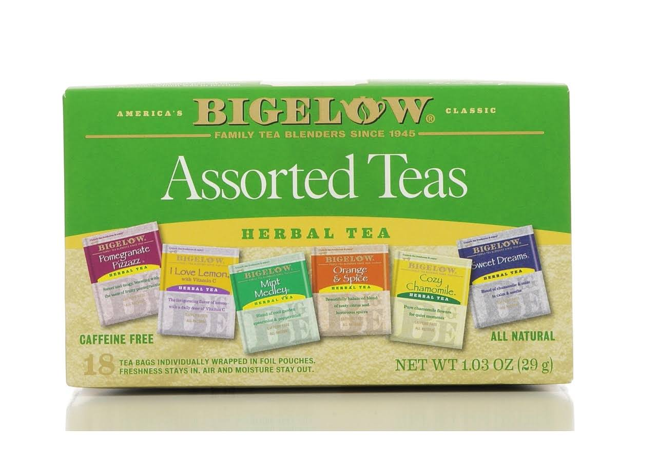 Bigelow Assorted Herbal Teas - 18ct, 1.03oz