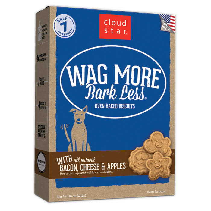 Cloud Star Wag more Bark Less Oven Baked Biscuits - Bacon Cheese and Apples
