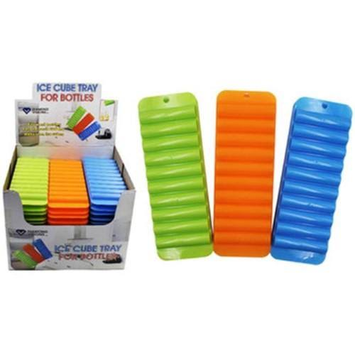 Ice Cube Tray For Water Bottles - Green, Orange & Blue