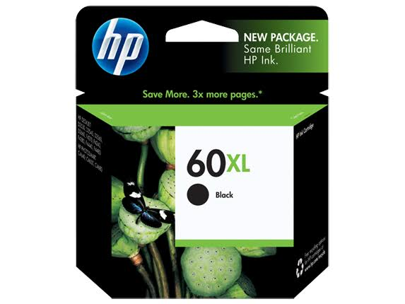 HP 60XL High Yield Original Ink Cartridge - Black
