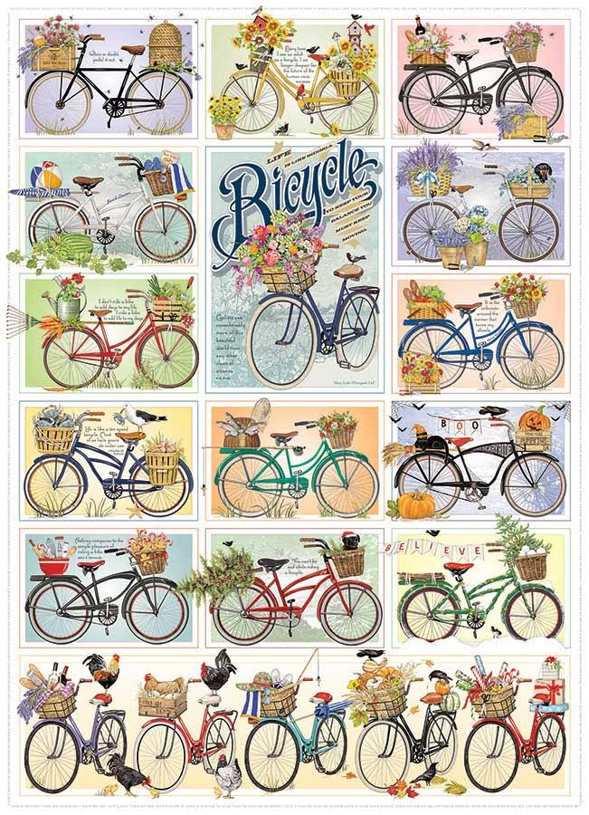Cobble Hill Puzzles Bicycles 1000 Piece Vehicles Jigsaw Puzzle