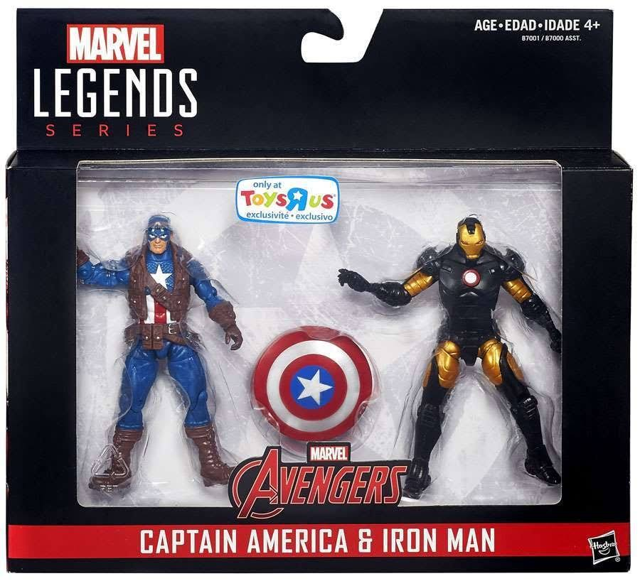 Marvel Legends Captain America: Civil War Captain Amrica & Iron Man Action Figure Set