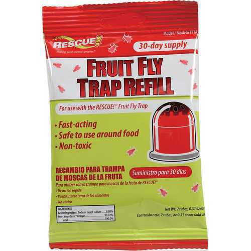 Rescue! Fruit Fly Trap Attractant - 30-Day Supply