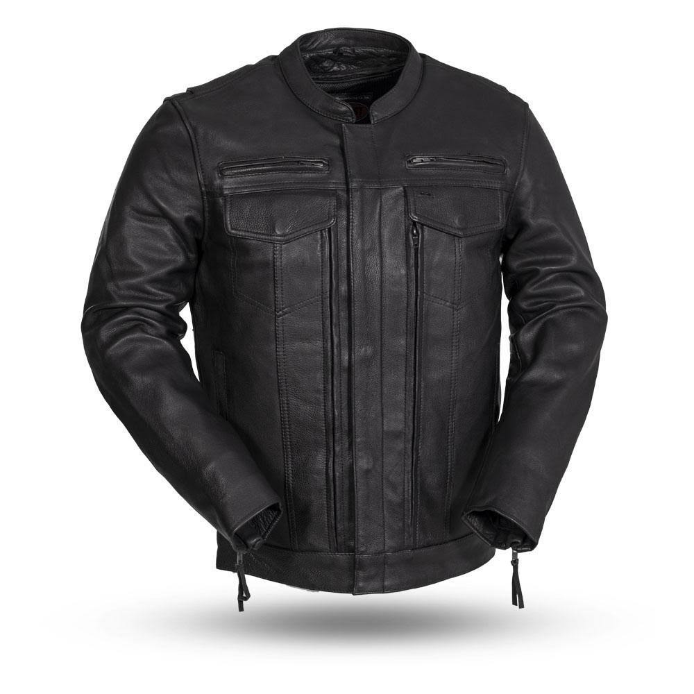 First Manufacturing The Raider Men's Leather Jacket Black