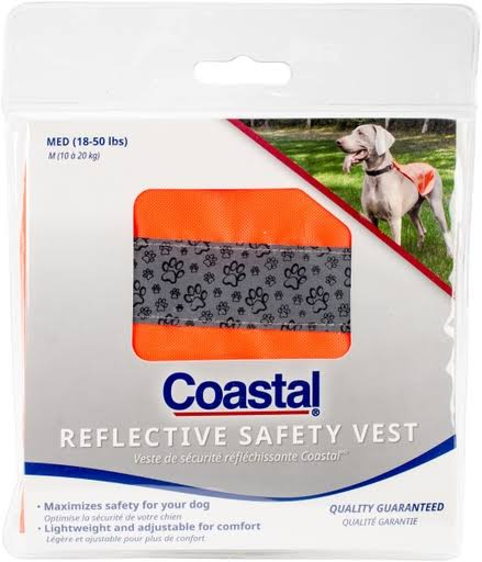 Coastal Pet Products Reflective Safety Vest - Neon Orange, Medium