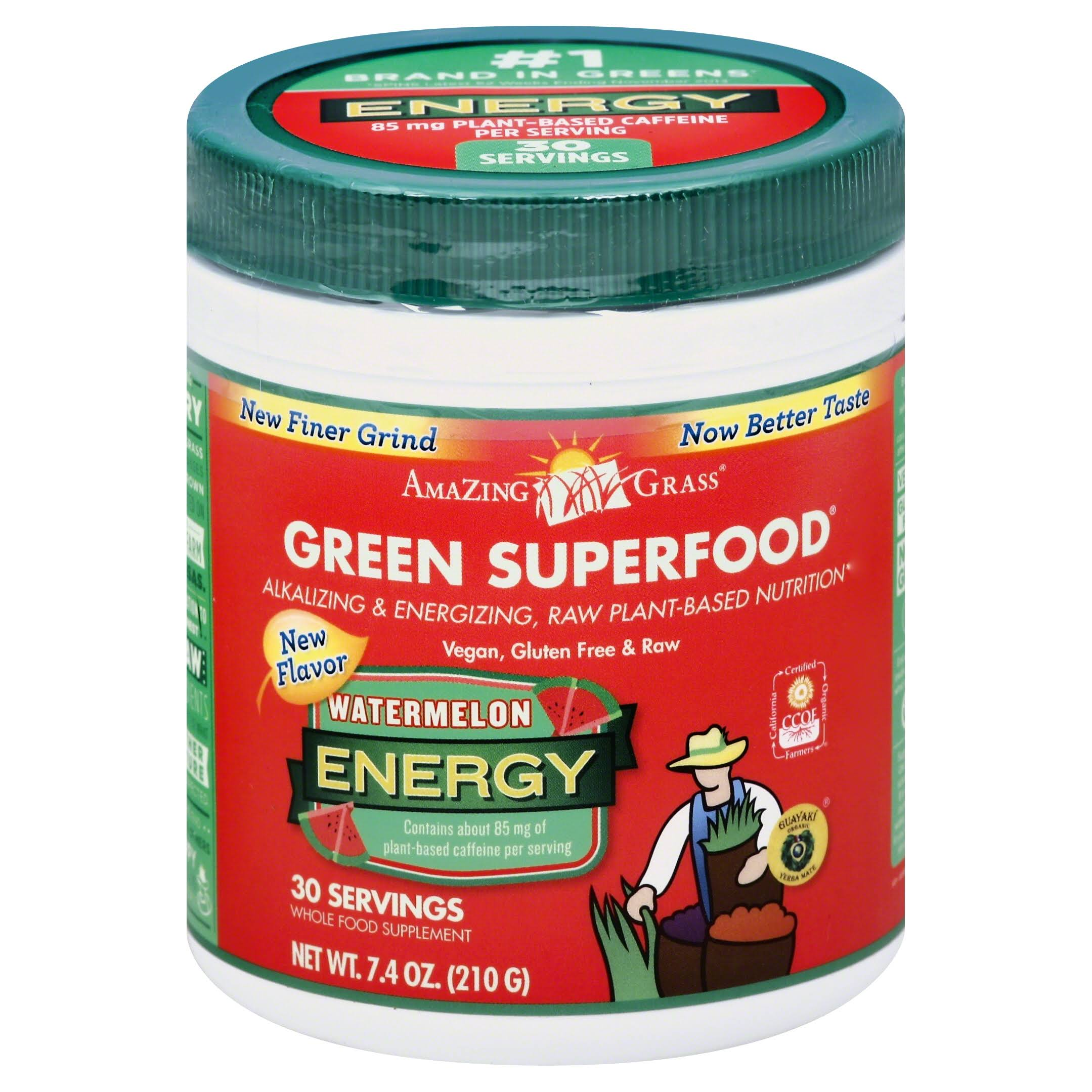 Amazing Grass Green Superfood Energy - Watermelon, 7.4oz