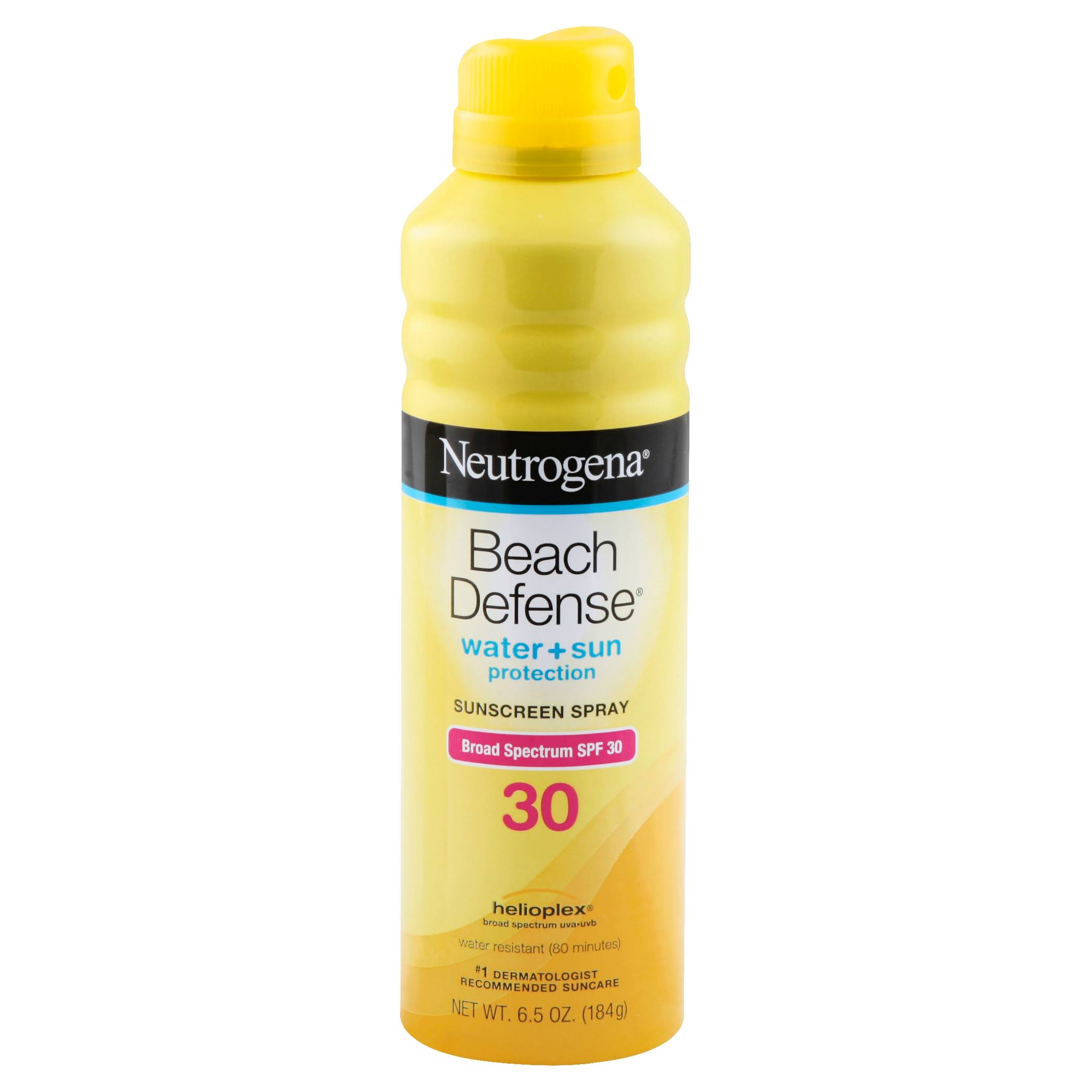 Neutrogena Beach Defense Water Plus Sun Protection Sunscreen Spray - Broad Spectrum SPF 30, 6.5oz