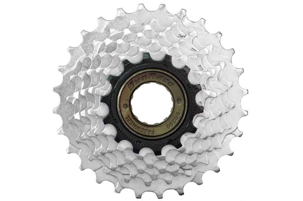 Sunrace Freewheel - Chrome Plated, 7 speed, 13-28T